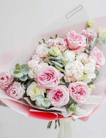 Букет цветочная палитра DELICATE PINK