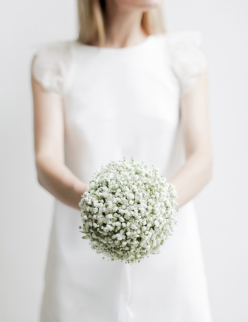 Букет невесты из белой гипсофилы WHITE