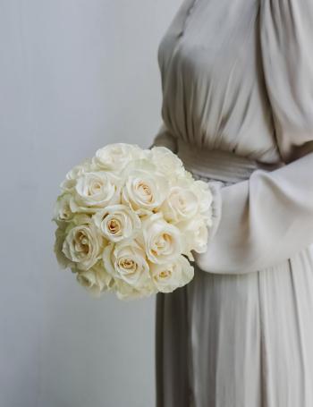 Cвадебный букет из роз VANILLA CREAM