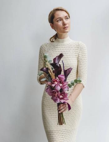 Свадебный букет с орхидеей BLACK&PURPLE