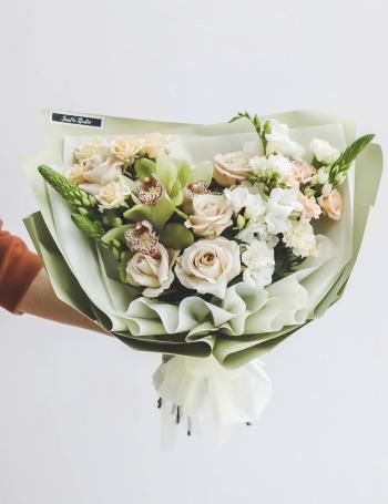 Букет из орхидеи и ферзи LIME&CAPPUCCINO