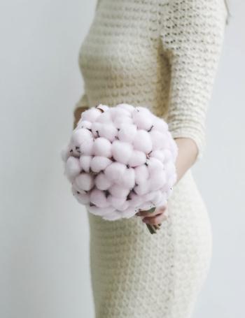 Свадебный букет из хлопка COTTON PINK
