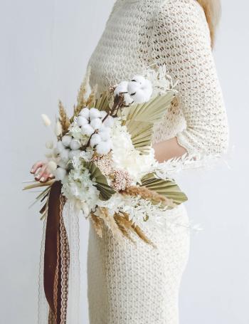 Свадебный букет из сухоцветов WHITE BOHO