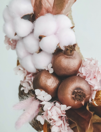 Венок из сухоцветов PINK BRONZE