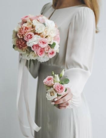 Букет невесты из роз PINK&CARAMEL
