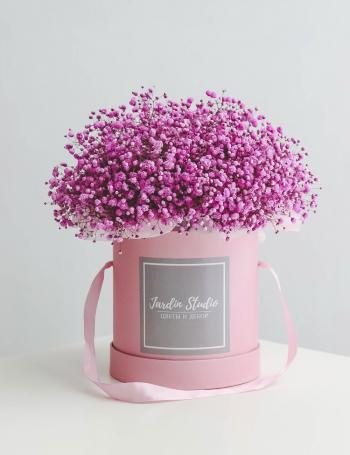 Композиция из розовой гипсофилы PINK