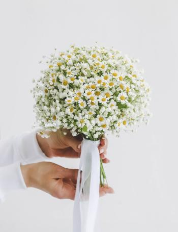 Свадебный букет из ромашек DAISY