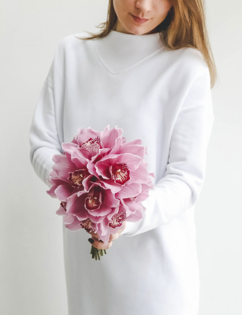 Свадебный букет из лиловых орхидей PURPLE