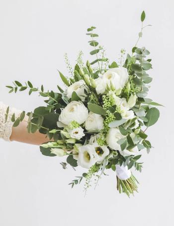Свадебный букет из ранункулюсов WHITE SPRING