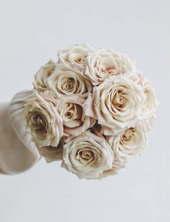 Свадебный монобукет из роз COCOA