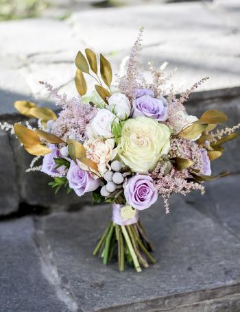 Букет невесты GOLD LILAC