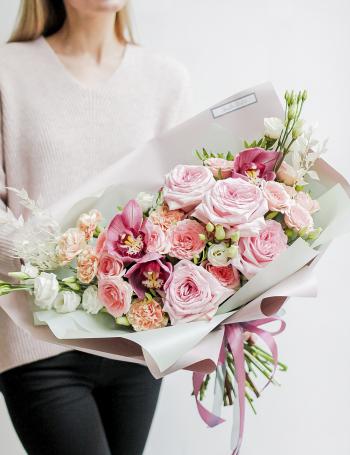Букет цветочная палитра PEACH JUICE