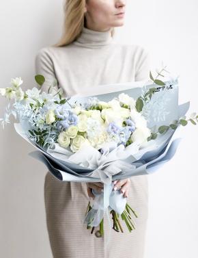 Букет цветочная палитра SEA BLUE