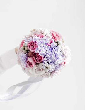 Свадебный букет из роз PURPLE OCEAN