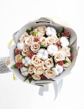 Букет из кофейных роз CAPPUCCINO&MILK