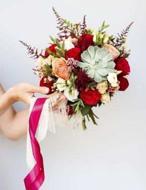 Свадебный букет RED&CAPPUCCINO