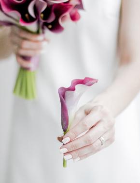 Свадебный букет из калл PURPLE