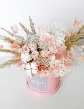 Коробка с сухоцветами PEACH JUICE
