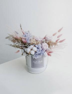 Коробка с сухоцветами PURPLE OCEAN