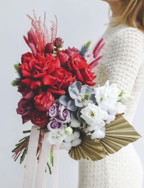 Свадебный букет цветочная палитра BOHEMIA