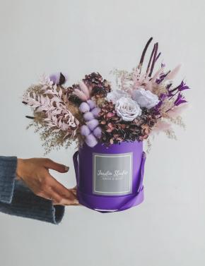 Коробка с сухоцветами PURPLE MIST