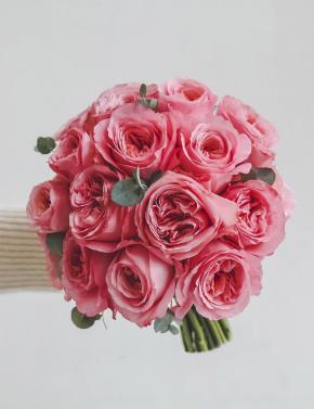 Букет из пионовидных роз CORAL PINK