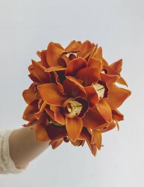 Свадебный букет из орхидей GOLD CHOCOLATE