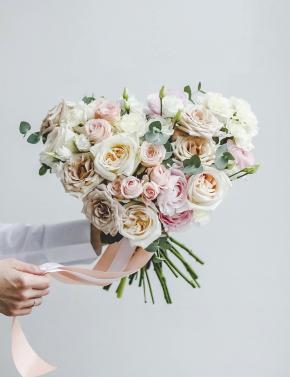 Свадебный букет WHITE&CREAM