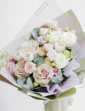 Букет из пионовидных роз DELICATE PINK