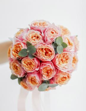 Букет из пионовидных роз CORAL