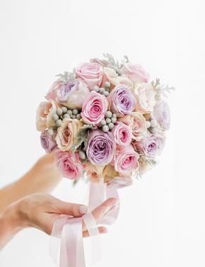 Букет невесты из роз ассорти LILAC